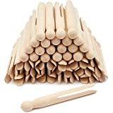 Juvale Wooden Traditional Clothespins (4.3 x 0.5 in, 50 Pack)
