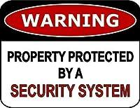 ヴィンテージの外観の再生サイン、セキュリティシステム3639のヴィンテージスタイルのノスタルジックな広告の壁サインによって保護された警告プロパティ
