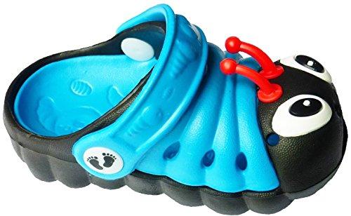 Clogstrom Clogs for Infant or Toddler Boys and Girls Unisex Sandal Animals Shoe (8 Blue/Black)