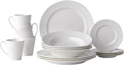 Hankook Chinaware Lohas Dinnerware Set Fine Bone China Chinaware White (LOHAS_16pcs)