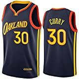 DIMOCHEN Movement Ropa Jerseys de Baloncesto para Hombres, NBA Golden State Warriors 30# Stephen Curry, cómodo, Camiseta Uniformes Deportivos Tops (Size:M,Color:G1)