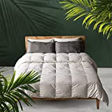 Antar Home Ultra Soft Lightweight Summer Down Comforter - Duvet Insert, 100% Cotton Shell, 5% Down & 95% Feather Real Filling, Breathable, Machine Washable (White, Queen Size)