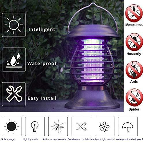 Lampara Mata Insectos Energía Solar Antimosquitos,Luz Exterior Solar Para El Control De...