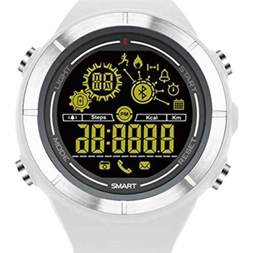 XXHDEE Reloj Inteligente Reloj Inteligente Bluetooth For El Reloj Inteligente Android iOS Android Reloj Podómetro A Prueba De Agua For La Aptitud Reloj (Color : White)