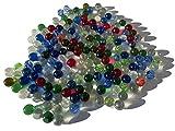 CRYSTAL KING Canicas de cristal de colores, 16 mm de diámetro, más de 1 kg, bolas decorativas, canicas multicolores