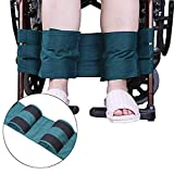 Cinturón de seguridad para silla de ruedas con reposapiés para personas mayores y mayores, accesorio para discapacitados