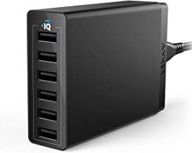 USB Wall Charger, Anker 60W 6 Port USB Charging Station, PowerPort 6 Multi USB Charger..