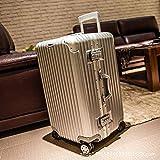 N\C Maleta de aluminio de 4 ruedas con marco de maleta ligera, caja de herramientas de consignación de código aduanero...