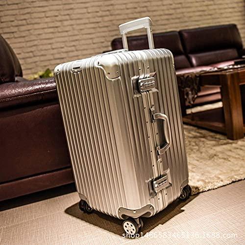 N\C Maleta de aluminio de 4 ruedas con marco de maleta ligera, caja de herramientas de consignación de código aduanero TSA