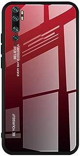 Toppix Xiaomi Mi Note 10 / Mi CC9 Pro ケース, 保護カバーTPUフレーム + 強化ガラス製バックカバー [傷の防止] Xiaomi Mi Note 10 / Mi CC9 Pro 用 カバー (赤, ブラック)