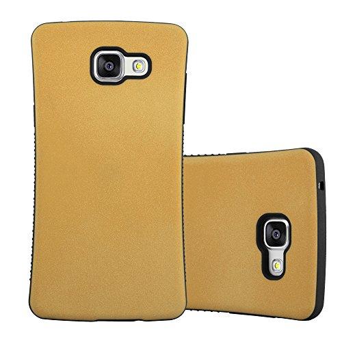 Preisvergleich Produktbild Cadorabo Hülle für Samsung Galaxy A5 2016 (6) - Hülle in Gold BRAUN Small Waist Handyhülle mit rutschfestem Gummi-Rücken - Hard Case TPU Silikon Schutzhülle