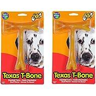 """(2 Pack) Fido Texas T-Bone Dental Dog Bone, Beef Flavored, Large 6-1/2"""""""