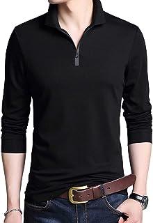 [YUNCLOS]ポロシャツ メンズ ゴルフウェア 長袖tシャツ メンズ POLO 開襟シャツ 無地