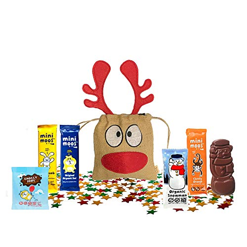 Moo Free Dairy free Gluten Free British Christmas Candy Chocolate UK | Basically British Reindeer Bag | British Christmas Shop | Imported from UK (Moo Free Chocolates)
