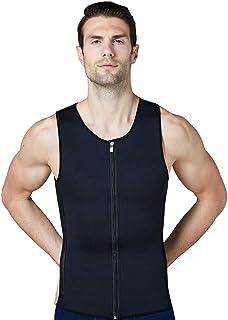 Men's Sweat Vest Waist Trainer Hot Body Shaper for Weight Loss No Zipper Neoprene Burn Fat Sauna Suit Tank Top
