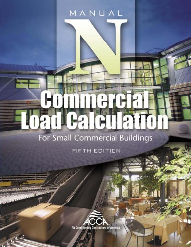 Compare Textbook Prices for Commercial Load Calculation for Small Commercial Buildings, Manual N® 5th Edition Edition ISBN 9781892765383 by Hank Rutkowski,Air Conditioning Contractors of America