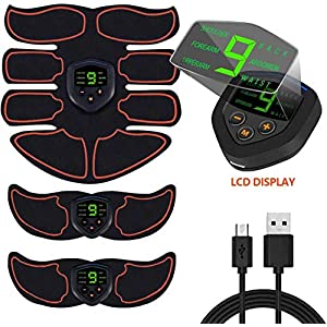 ABS Stimulator Ab Machine,Ab Stimulator EMS Portable Rechargeable Gym Abs Workout Equipment and Home Office Fitness Ab Belt Equipment for Abdomen