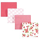 Hudson Baby Unisex Baby Cotton Flannel Receiving Blankets, Strawberries, One Size