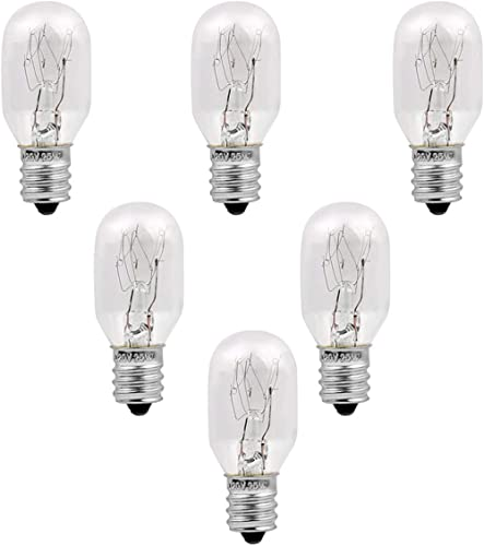 Himalayan Salt Lamp Bulbs 6 Pack E12 Socket Incandescent Bulbs, Unilamp Original Salt Lamp Replacement Long Lasting L...