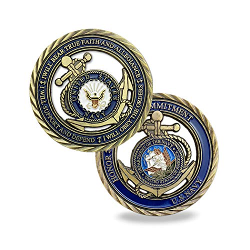 U.S. Navy Core Values Challenge Coin Collector's Medallion