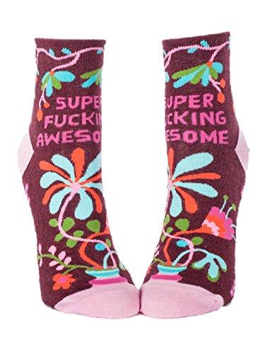 Blue Q Socks, Women's Ankle, Super F--king Awesome, Women's Shoe Size 5-10