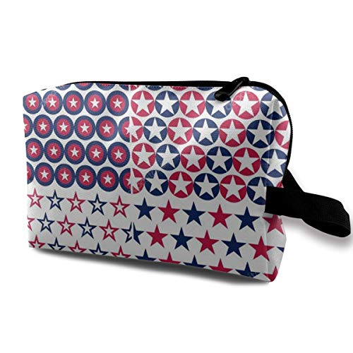 Red Blue Star Travel Storage Bag Cosmetic Bag