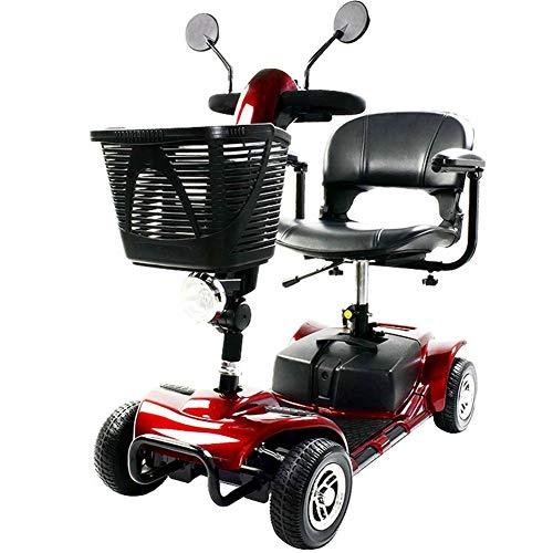 APOAD Älterer Roller, Elektromobil, E-mobil, Mini Scooter Faltbar Seniorenfahrzeug,vierrädriges Elektrofahrzeug,elektroroller,zu Öffnender Handlauf,elektromagnetische Bremse,drehbarer Sitz