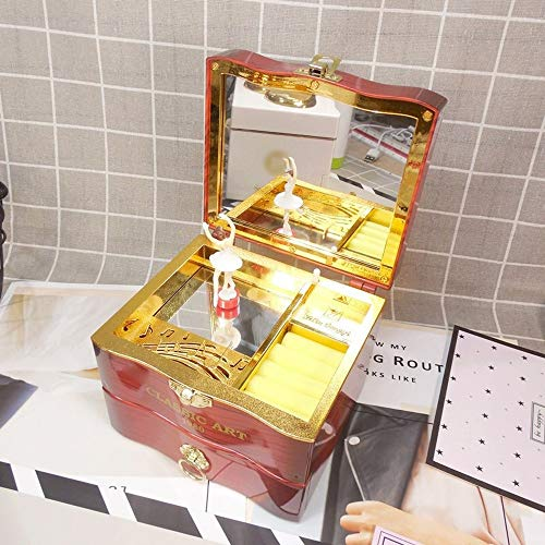 Muziekdoosjes Classic Music Box Ballerina Jewelry box verjaardagscadeau for vriendin Woondecoratie Kerstversieringen for thuis (Color : Brown, Size : Free)