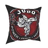 Pillow Funda Fundas de Almohada 45x45CM Vector Judo Design Template In Art Style Decoración para la decoración del hogar Oficina Sofá Holiday Bar Café Boda Coche