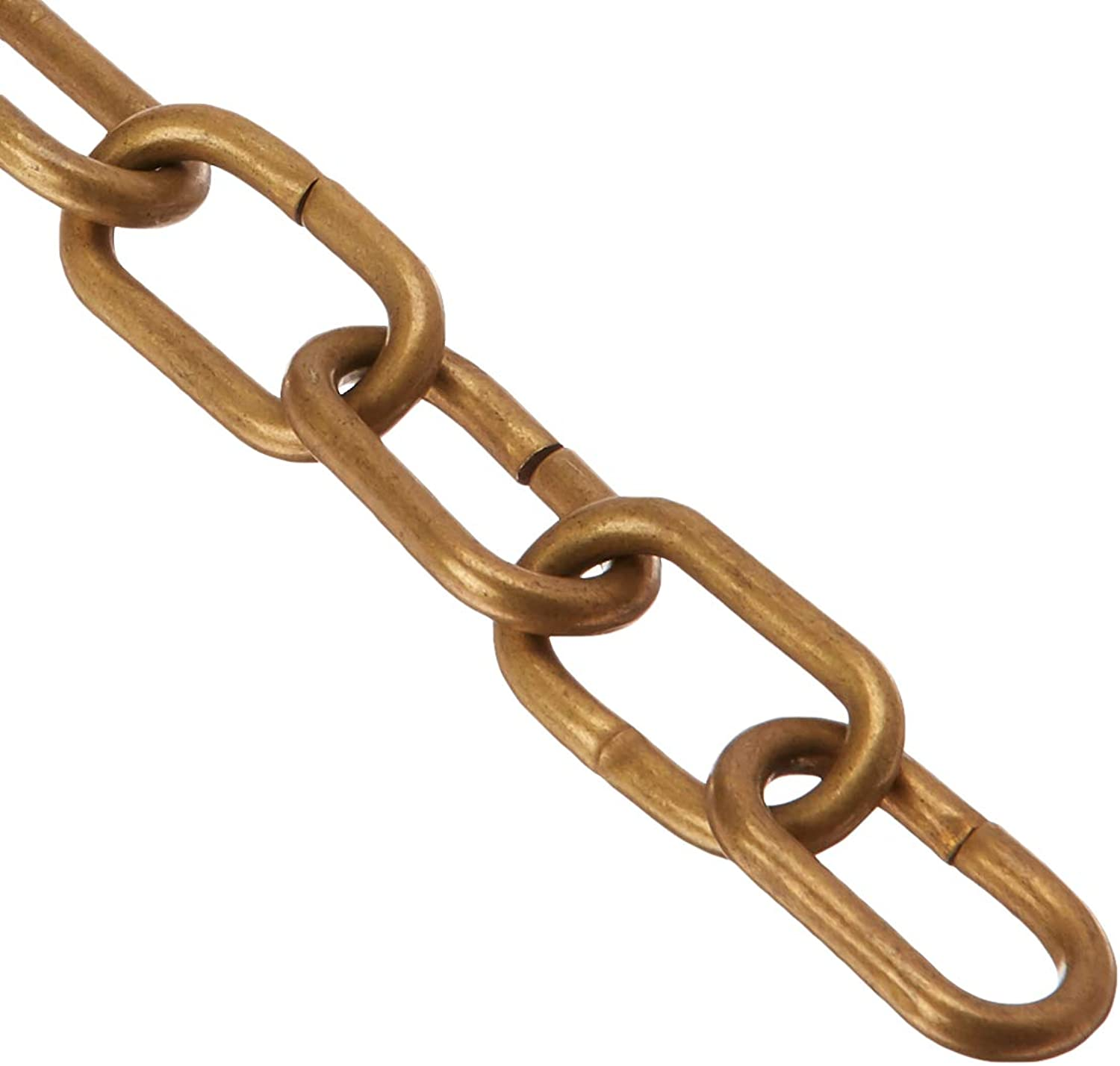 RCH Hardware CH-07-AB-3 Decorative Polished Solid Chain for Hanging, Lighting-Standard Unwelded Links (3 ft 1 Yard) (Antique Brass)