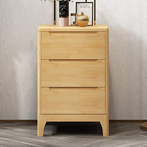 Narrow Bedside Table, 3 drawers Modern Minimalist Bedside Table for Bedroom Storage Drawers Small Nightstand Side Table Beside