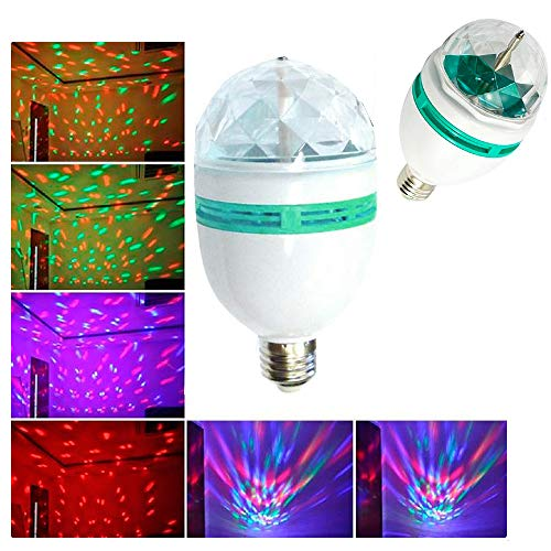 LED Rotating Light Lighting Full Color Disco Party Crystal Ball Lights Effects