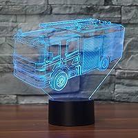 3Dイリュージョンランプルームデコレーション16色変更ランプ&リモコン光学LedナイトライトデスクLEDタッチテーブルナイトテーブル照明ギフト女の子のおもちゃ男の子キッズ誕生日ホリデークリスマスハロウィーン