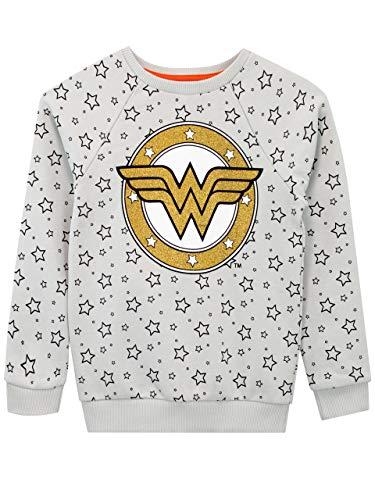DC Comics Sudadera para niñas Wonder Woman Gris 9-10 Años