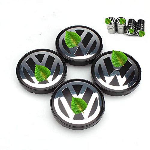 Car Design TP Juego de 4 Tapas centrales de Rueda para buje de 55 mm VW