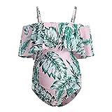 FELZ Traje de baño Embarazada, Maternidad Bañadores Mujer Volantes Traje de Baño Embarazada Ropa de Baño Deportes Premama Bikinis Embarazo Talla Grande Ajustable