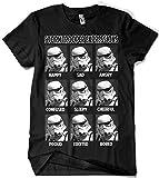 Camisetas La Colmena 031-Stormtrooper Expressions (XXL, Negro)