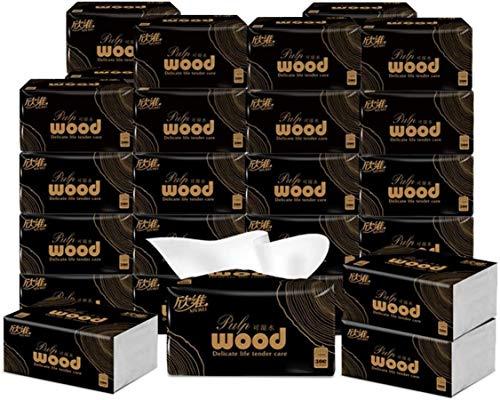 XINGJU 6 zakken Hout Toilet Paper - 4ply geen chemische Handdoeken Papier - Geschikt for Keuken Slaapkamer Badkamer - 70 vellen, 17 X11.5cm