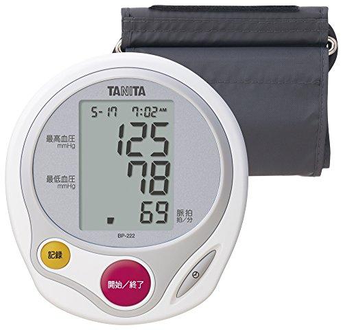 タニタ 上腕式血圧計 ホワイト BP-222-WH