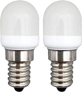KingYH 2 Pieza LED Frigorifico Lámpara 2W E14 LED Bombilla ESE Blanco Cálido 3000K 180LM Equivalente 20W Halógeno Regulable para Campana Extractora Máquina de Coser [Eficiencia Energética A++]
