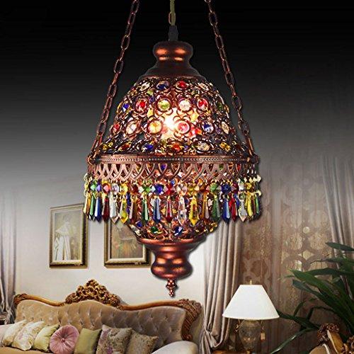Ali LampsMan Coffee Bohemian mediterranes Restaurant Veranda Lampe bar Lampe bunten Vintage Kristall-Kronleuchter