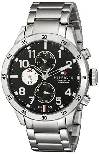 Reloj para hombre Tommy Hilfiger 1791141, mecanismo de cuarzo, diseño con varias esferas, correa de acero inoxidable.