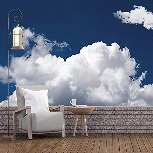 Moderno Cielo Azul Nubes Blancas Paisaje Revestimiento De Paredes Papel Tapiz Impermeable Sala De Estar Fondo Pared Decoración Del Hogar Mural 3D
