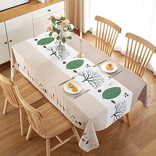 DSman Mesa de Comedor Lavable Cubierta de Lino de Tela con Forma de Flor a Juego de Color Impermeable y a Prueba de Aceite