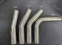 SUS304 ステンレス曲げパイプ 50.8φ×1.5t 研磨 ステンレスマフラー 15° 30° 45° 手摺 バンパー 製作用 汎用品 ポリッシュ (45°)