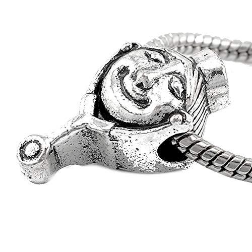 Sexy brilla de la mujer sonriente atento enfermera cuenta para pulsera de cadena de serpiente Europea encanto