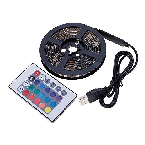 VANKER Laptop TV Rétroéclairage USB RGB 5050SMD 60LED Flexible Changement de Couleur Bande de Lumière 1M