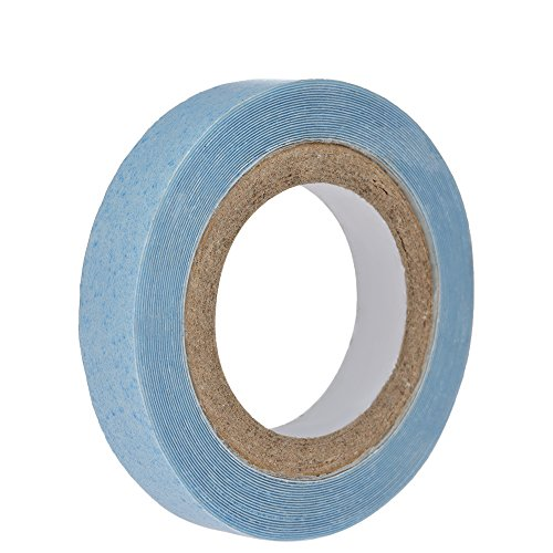 zroven 1 Rollo de 0.8 cm 3 yardas Cinta de Pelo Impermeable Pegamento Adhesivo de Doble Cara para la Extensión Del Pelo Pelucas de Cordón Toupee