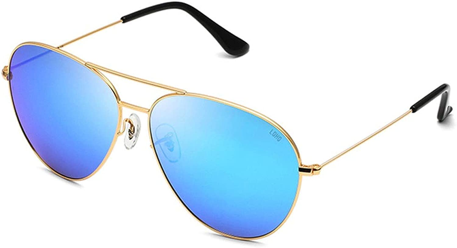 LFFTYJ Sunglasses, Pilot Polarized Sunglasses Round Face Personality Sunglasses Driving Mirror Fashion Classic bluee  Unisex Give him (her) a Good Summer Gift (color   B)