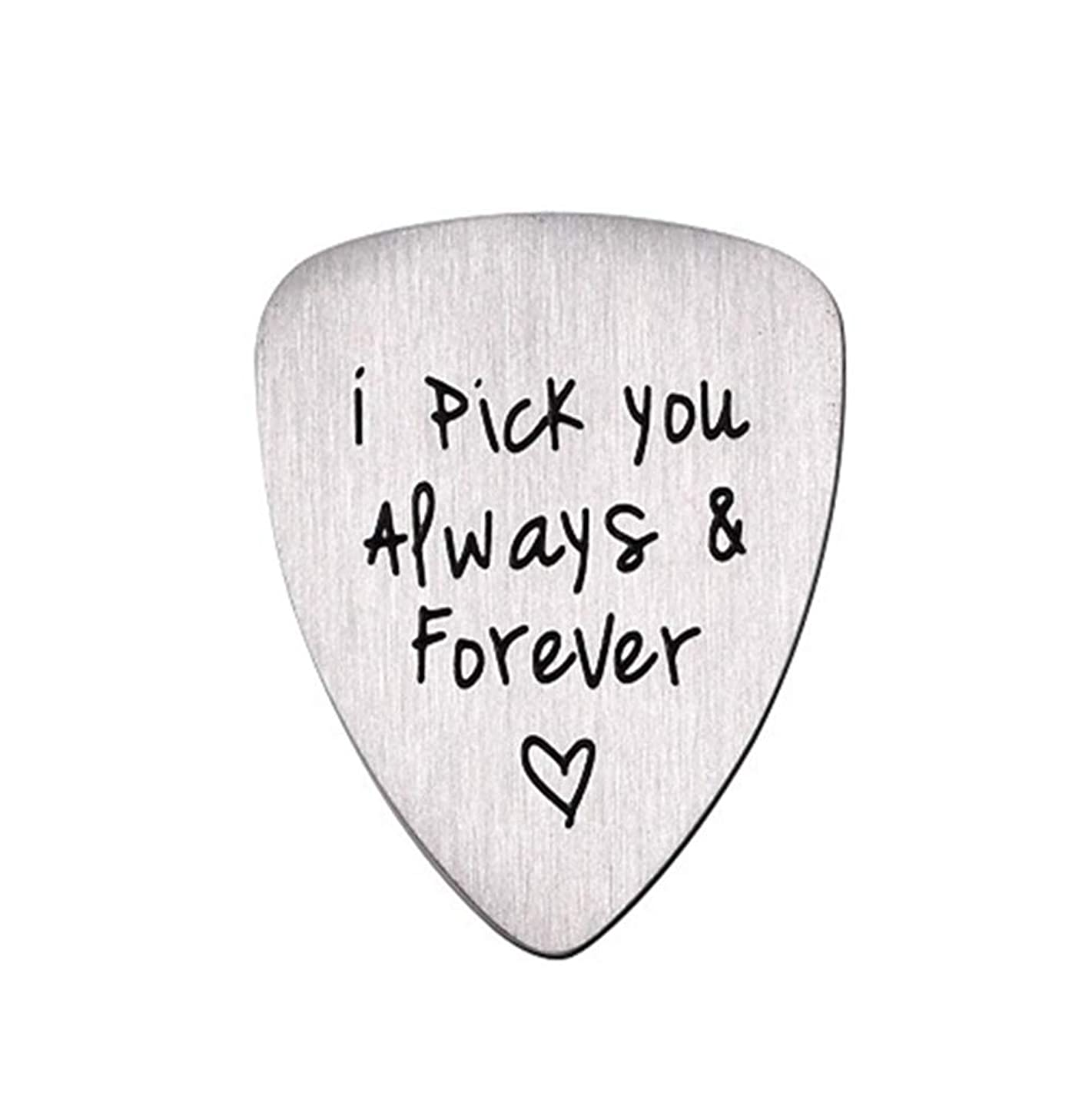Gifts for Him Men, Unique Birthday Gift for Musician Husband Boyfriend Fianc¨| Guitar Pick Jewelry Wedding Valentines Father's Day Christmas Gifts